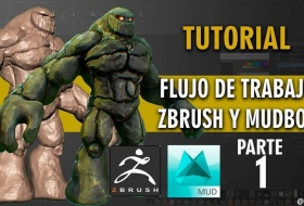 ZBrush 和 Mudbox结合雕刻石头人模型教程 - Workflow In ZBrush and Mudbox