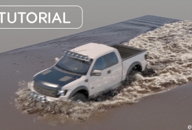 卡车通过泥水潭特效制作教程 - Truck vs Muddy Water VFX Tutorial Phoenix FD