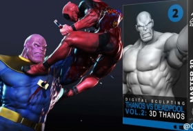 灭霸VS死侍第02卷 - Thanos vs Deadpool in ZBrush - VOL.2. 3D Thanos Modeling