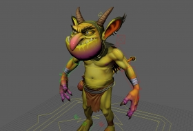 goblin fantasy character rig with textures