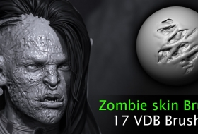 ZBrush僵尸角色皮肤画笔笔刷 – Zombie skin VD Brushes - ArtStation Marketplace
