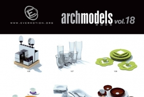 Evermotion archmodelsVol.18[厨房物品模型] Vary渲染
