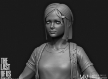 游戏《末日与萝莉》中Zbrush角色制作展示 - The last of us, zbrush pipeline over...
